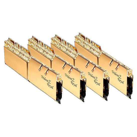 Mémoire G.Skill Trident Z Royal Gold RGB 64 Go (4 x 16 Go) 3200 MHz DDR4 CL14