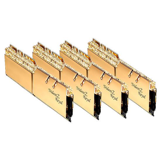 Mémoire G.Skill Trident Z Royal Gold RGB 64 Go (4 x 16 Go) 3600 MHz DDR4 CL16