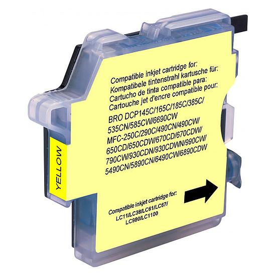Cartouche imprimante Cartouche compatible Brother LC-980 et LC-1100 - Jaune
