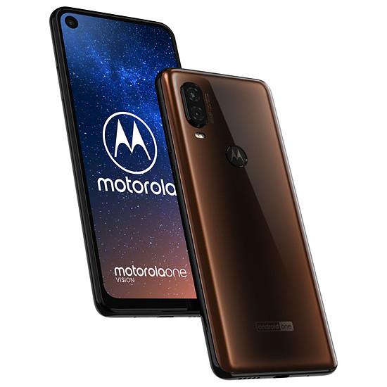 Smartphone et téléphone mobile Motorola One Vision (bronze) - 128 Go - 4 Go