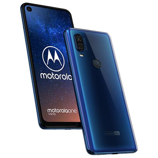 Smartphone et téléphone mobile Motorola One Vision (bleu) - 128 Go - 4 Go