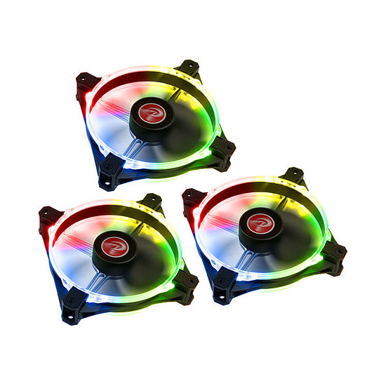 Ventilateur Boîtier Raijintek Macula 12 Rainbow Pack de 3