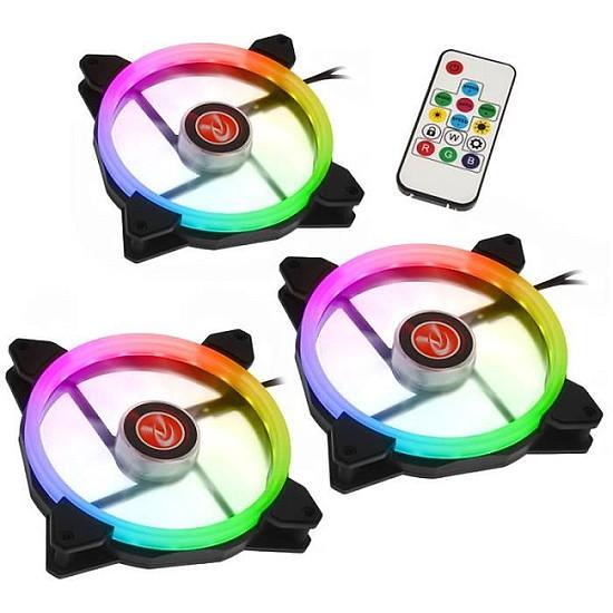 Ventilateur Boîtier Raijintek Iris 14 Rainbow - Pack de 3