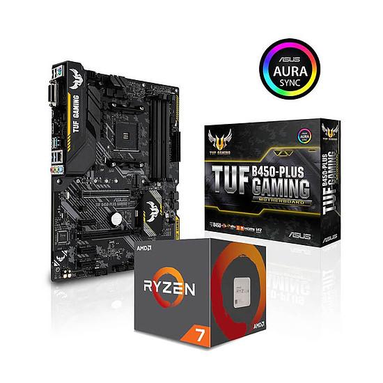 Kit upgrade PC AMD Ryzen 7 2700 + Asus TUF B450-PLUS GAMING