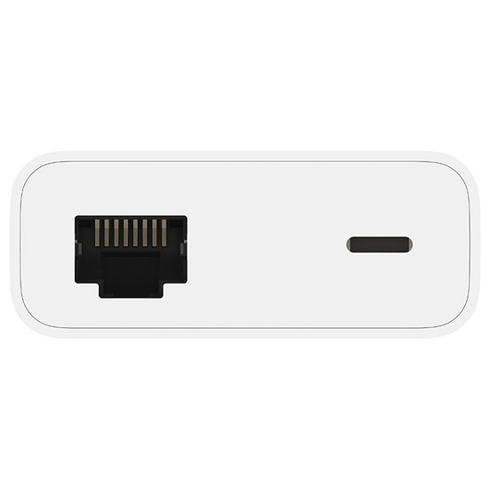 Adaptateurs et câbles Belkin Adaptateur avec connecteur Lightning et Ethernet (blanc) - Autre vue