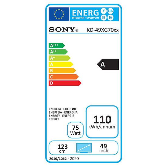 TV Sony KD49XG7005 - TV 4K UHD HDR - 123 cm - Autre vue