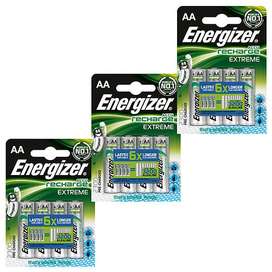 Pile et chargeur Energizer Accu Recharge Extreme AA 2300 mAh (par 4)