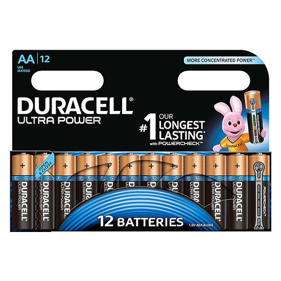 Pile et chargeur Duracell Ultra Power AA (par 12)