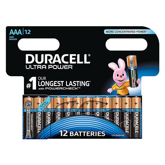 Pile et chargeur Duracell Ultra Power AAA (par 12)