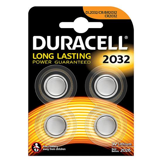 Pile et chargeur Duracell 2032 Lithium 3V (par 4)