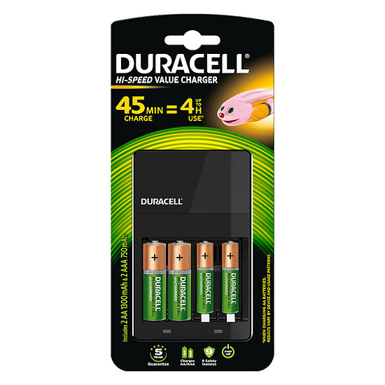 Pile et chargeur Duracell Hi-Speed Value Charger - Occasion