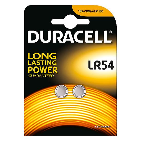 Pile et chargeur Duracell LR54 1.5V (par 2)