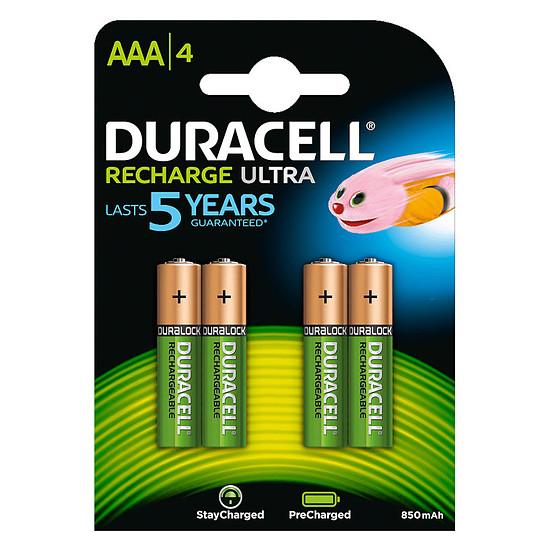 Pile et chargeur Duracell Recharge Ultra AAA 850 mAh (par 4)
