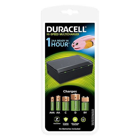 Pile et chargeur Duracell Hi-Speed Multicharger