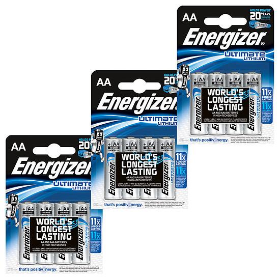 Pile et chargeur Energizer Ultimate Lithium AA (par 12)