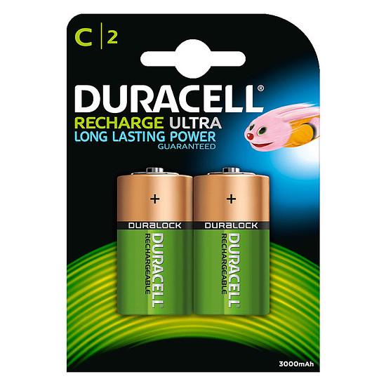 Pile et chargeur Duracell Recharge Ultra C 3000 mAh (par 2)