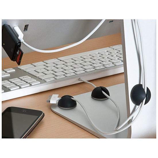 Passe câble et serre câble Guides-câbles adhésifs Blancs (par 5) - Autre vue