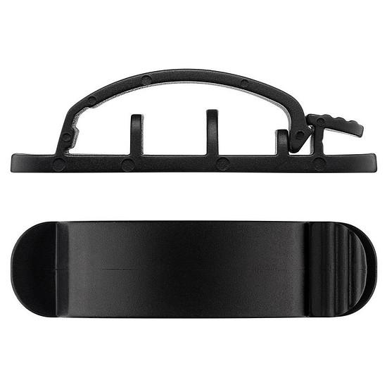 Passe câble et serre câble Goobay Cable Management Clip Set - Noir - Autre vue