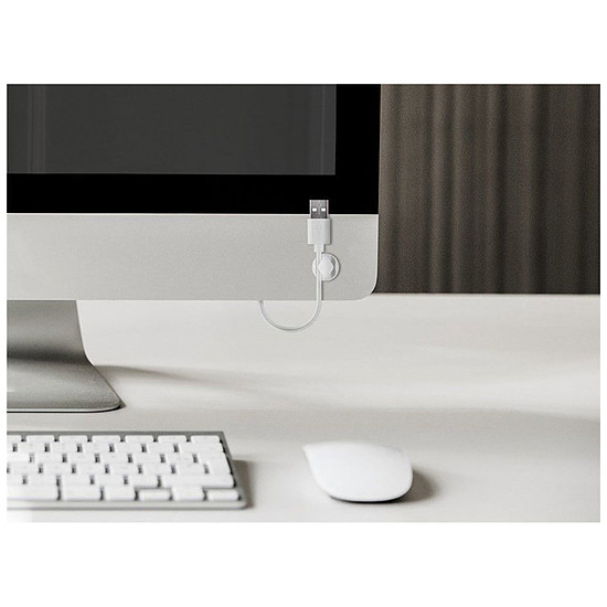 Passe câble et serre câble Goobay 6 Slot Cable Management Mini - Blanc - Autre vue