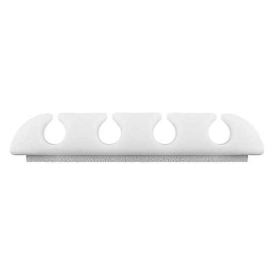Passe câble et serre câble Goobay 4 Slot Cable Management - Blanc - Autre vue