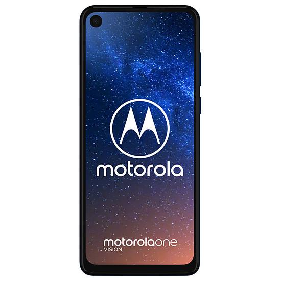 Smartphone et téléphone mobile Motorola One Vision (bleu) - 128 Go - 4 Go - Autre vue