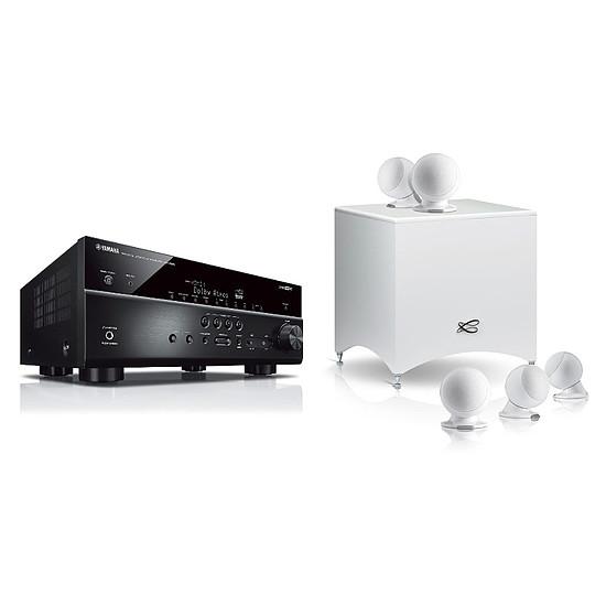 Ensemble Home-Cinéma Yamaha RX-V685 Noir + Pack 5.1 Cabasse Alcyone 2 Blanc