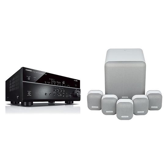 Ensemble Home-Cinéma Yamaha RX-V685 Noir + Monitor Audio MASS 5.1 Blanc