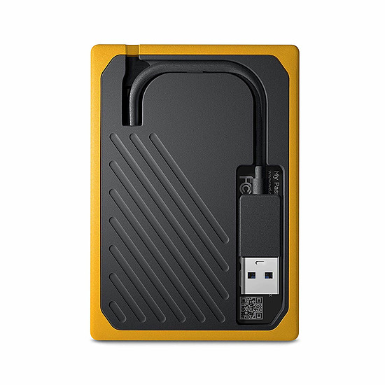 Disque dur externe Western Digital (WD) My Passport Go - 1 To (Noir ambré) - Autre vue