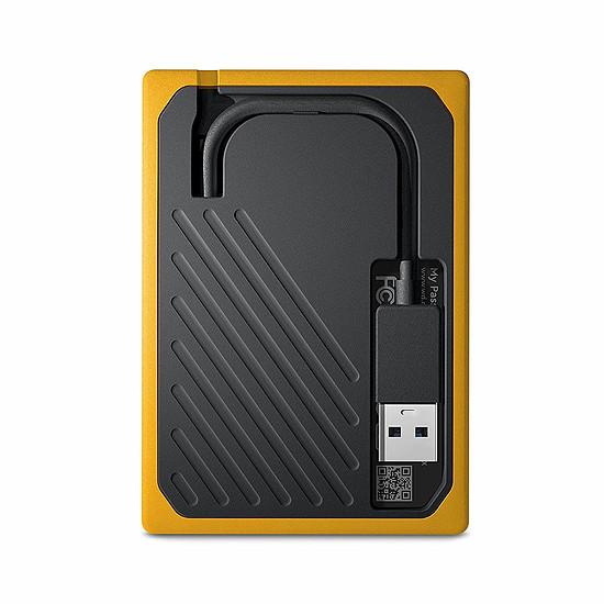 Disque dur externe Western Digital (WD) My Passport Go - 2 To (Noir ambré) - Autre vue