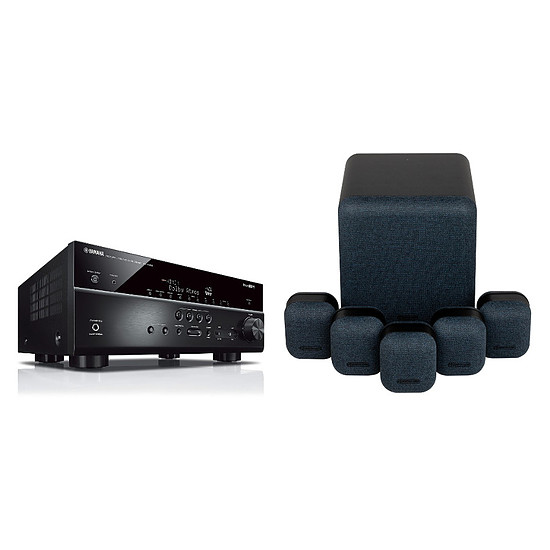 Ensemble Home-Cinéma Yamaha RX-V685 Noir + Monitor Audio MASS 5.1 Noir