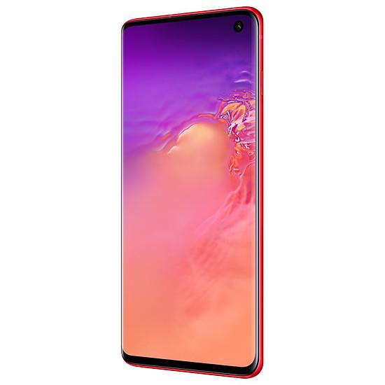 Smartphone et téléphone mobile Samsung Galaxy S10+ (rouge) - 128 Go - 8 Go - Autre vue