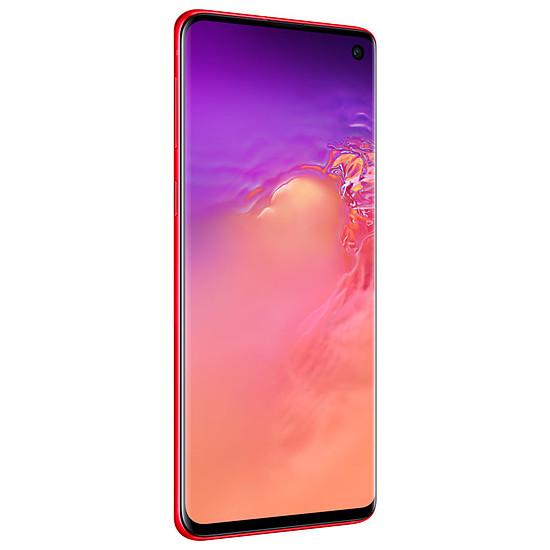 Smartphone et téléphone mobile Samsung Galaxy S10 (rouge) - 128 Go - 8 Go