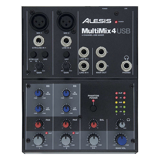 Table de mixage Alesis Multimix 4 USB - Autre vue