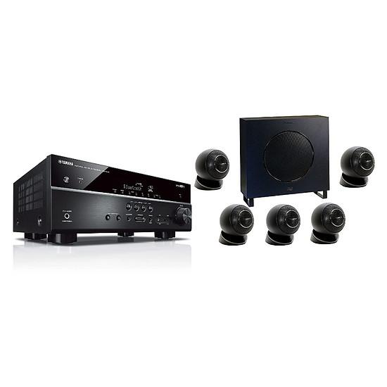 Ensemble Home-Cinéma Yamaha RX-V485 Noir + Cabasse Eole 4 Noir