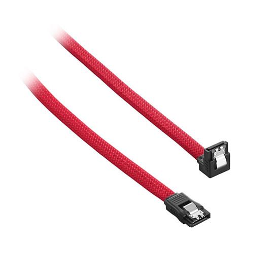 Alimentation CableMod ModMesh Right Angle SATA 3 Cables 30cm -  ROUGE - Autre vue
