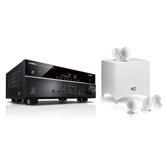 Ensemble Home-Cinéma Yamaha RX-V485 Noir + Pack 5.1 Cabasse Alcyone 2  Blanc