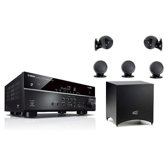 Ensemble Home-Cinéma Yamaha RX-V485 Noir + Pack 5.1 Cabasse Alcyone 2  Noir