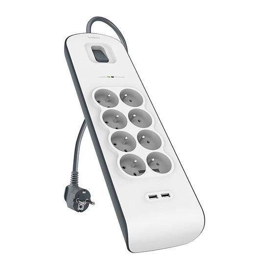 Multiprise Belkin multiprise parafoudre - 8 x prises + 2 ports USB