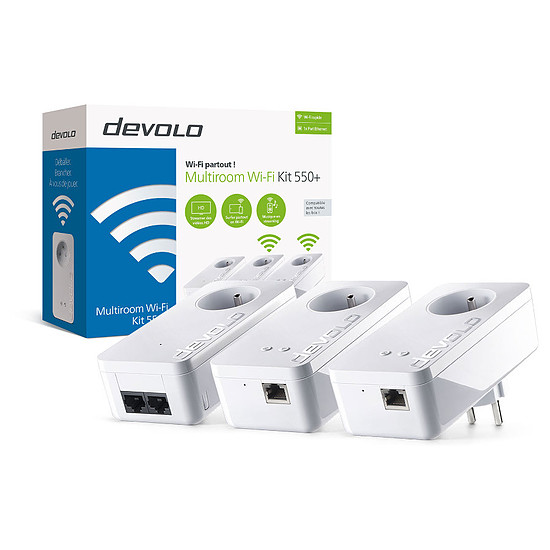 CPL Devolo dLAN 550+ WiFi  - Multiroom Kit (8310)