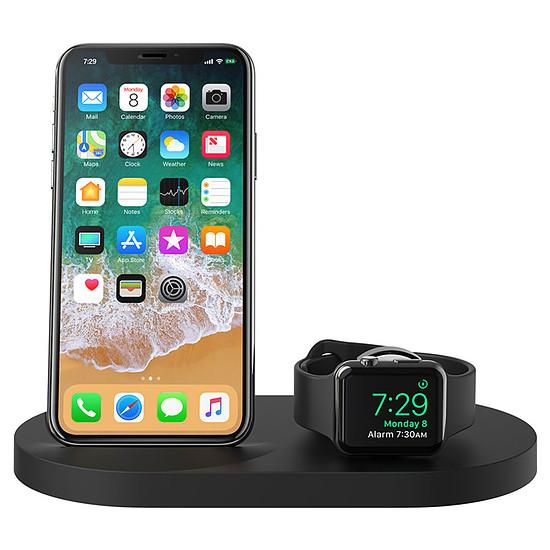 Chargeur Belkin Station de charge sans fil à induction Boost Up pour iPhone et Apple Watch Qi 7,5 W (noir)