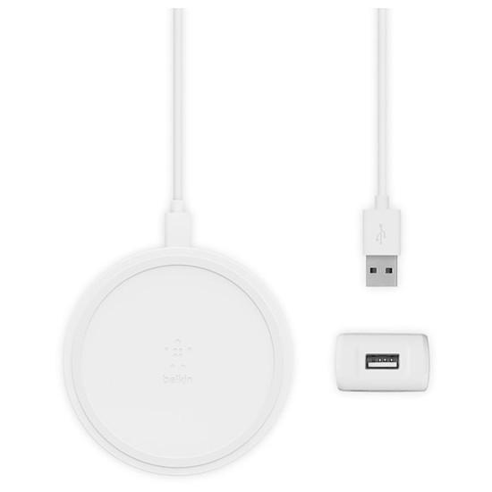 Chargeur Belkin Chargeur sans fil rapide à induction Qi 10 W (blanc) - Autre vue