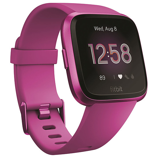 Montre connectée Fitbit Versa Lite (mûre - mûre) - Bluetooth - 34 mm