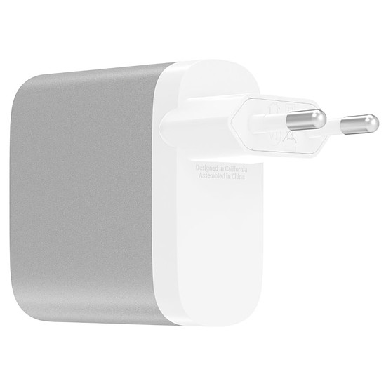 Chargeur Belkin Chargeur secteur 2 ports Boost Charge (gris) - USB-C / USB-A - 27W + 12W - Autre vue