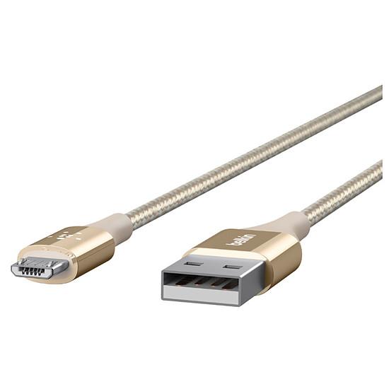 Adaptateurs et câbles Belkin Câble Mixit Duratek USB vers micro USB (or)