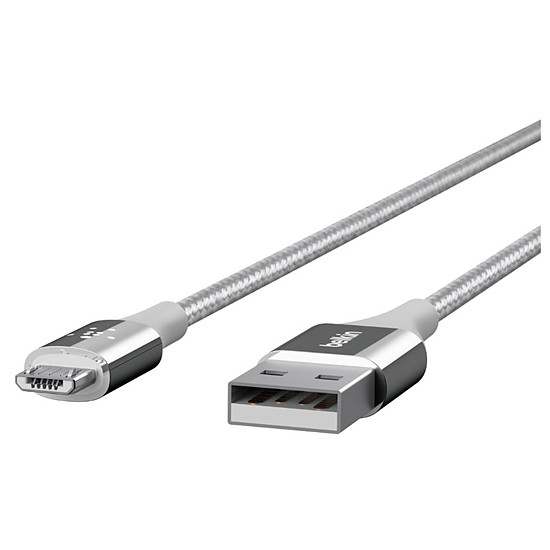 Adaptateurs et câbles Belkin Câble Mixit Duratek USB vers micro USB (argent)