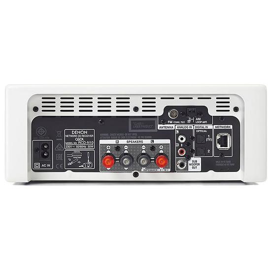 Mini-chaine Denon CEOL N10 Blanc - Sans HP - Autre vue