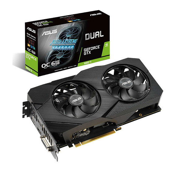 Carte graphique Asus GeForce GTX 1660 Ti Dual OC EVO