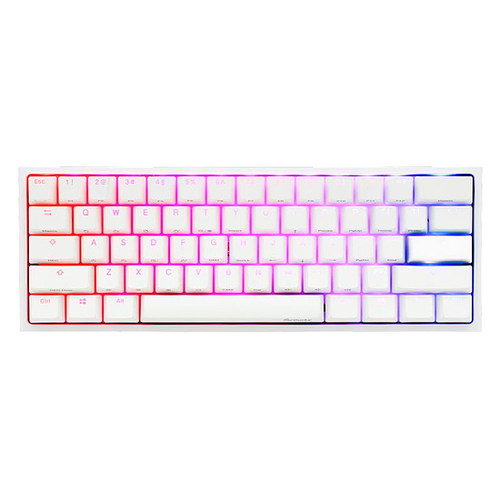 Clavier PC Ducky Channel One 2 Mini RGB - Blanc - Cherry MX Noir