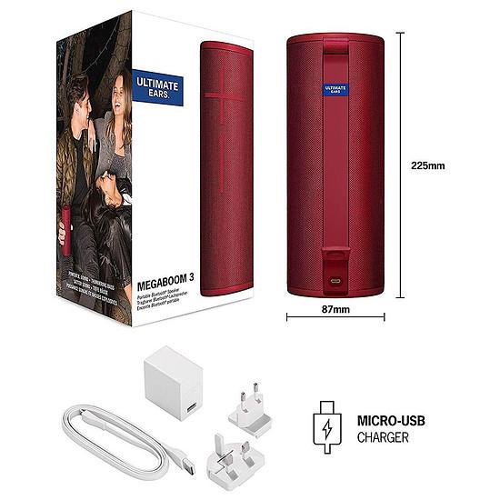 Enceinte sans fil Ultimate Ears UE MegaBoom 3 Rouge - Enceinte portable - Autre vue