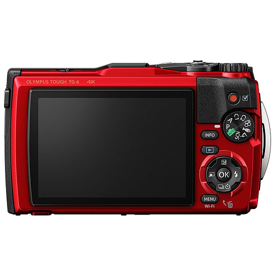 Appareil photo compact ou bridge Olympus TG-6 Rouge - Autre vue